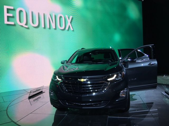 a picture of a Chevrolet Equinox from the chicago auto show